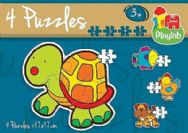 Playlab 4 Puzzles in a Box Shaped Jigsaws - Animals